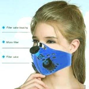 Royal Blue Breathable N95 Filtered Face Ma…
